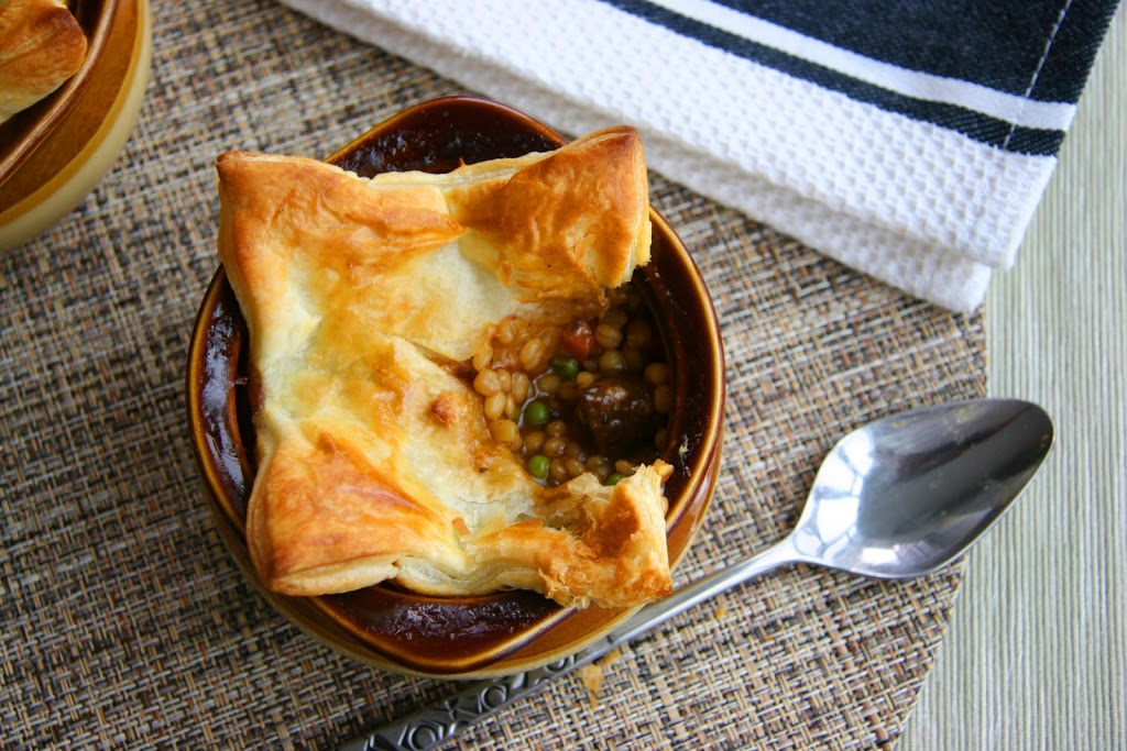 Beef and Barley Pot Pie
