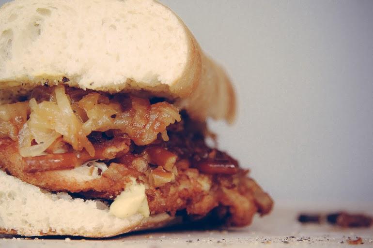 Pretzel Schnitzel Sandwich