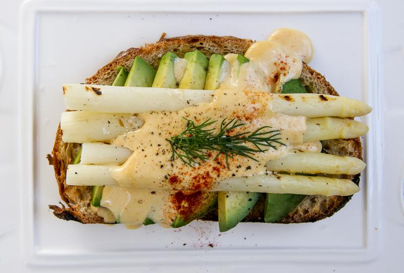 Asparagus Toast w/ Brown Butter Hollandaise