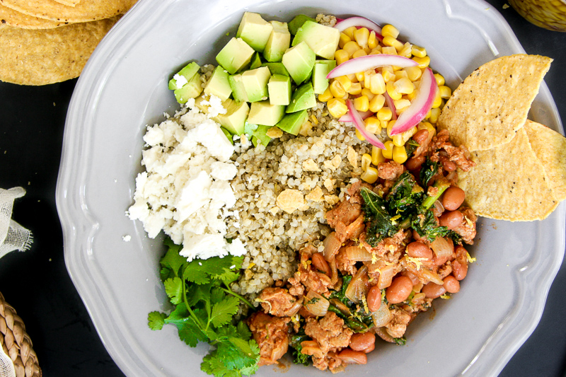 Mexican Turkey & Bean Quinoa Bowl