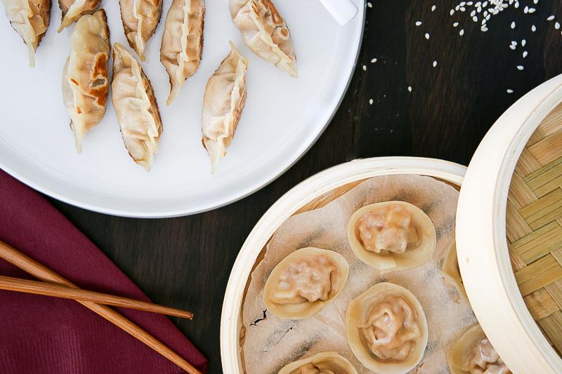 Kimchi Pork Dumplings