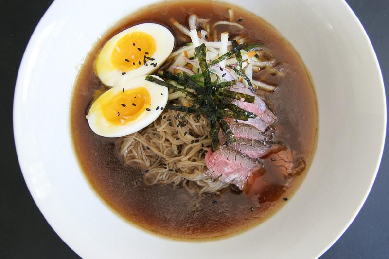 Naengmyun (cold noodle soup)