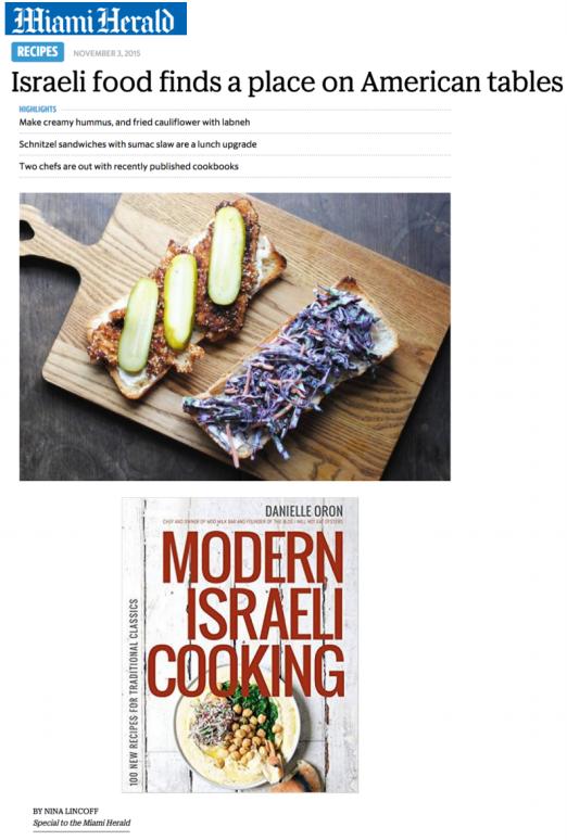 Miami Herald | Modern Israeli Cooking | Danielle Oron