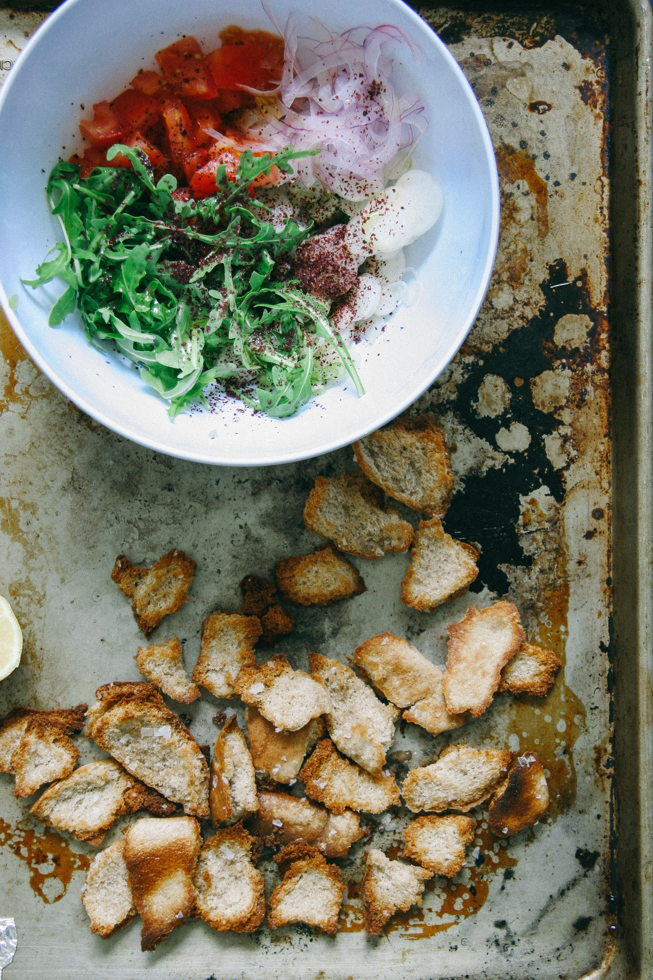 Fattoush | Israeli Arabic Fattoush Salad with Feta Cheese | I Will Not Eat Oysters