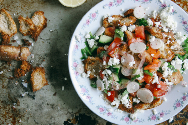 Fattoush | Israeli Arabic Fattoush Salad with Feta Cheese | I Will Not Eat Oysters