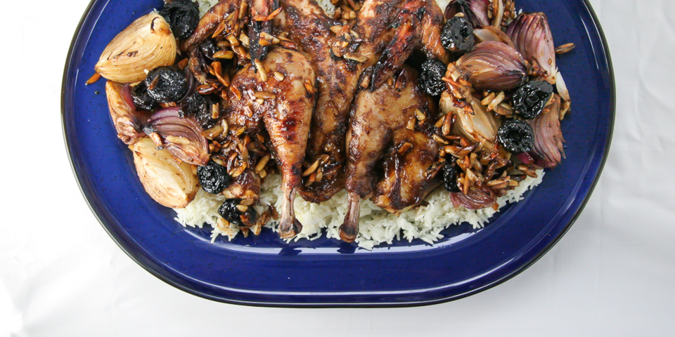 Prune & Almond Roast Chicken