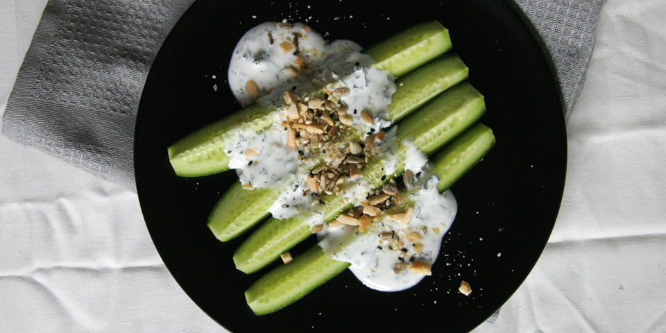 Cucumber Dukkah Snack