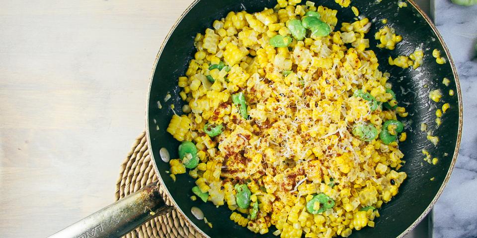 Sautéed Corn & Fava Beans