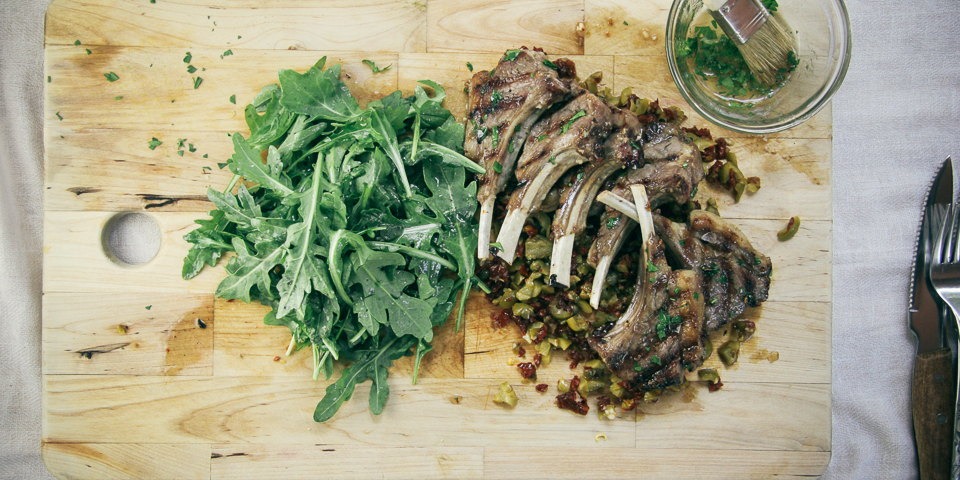 Grilled Lamb Chops w. Tapenade