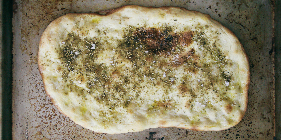 Za'atar Flatbread with Feta Cheese | I Will Not Eat Oysters