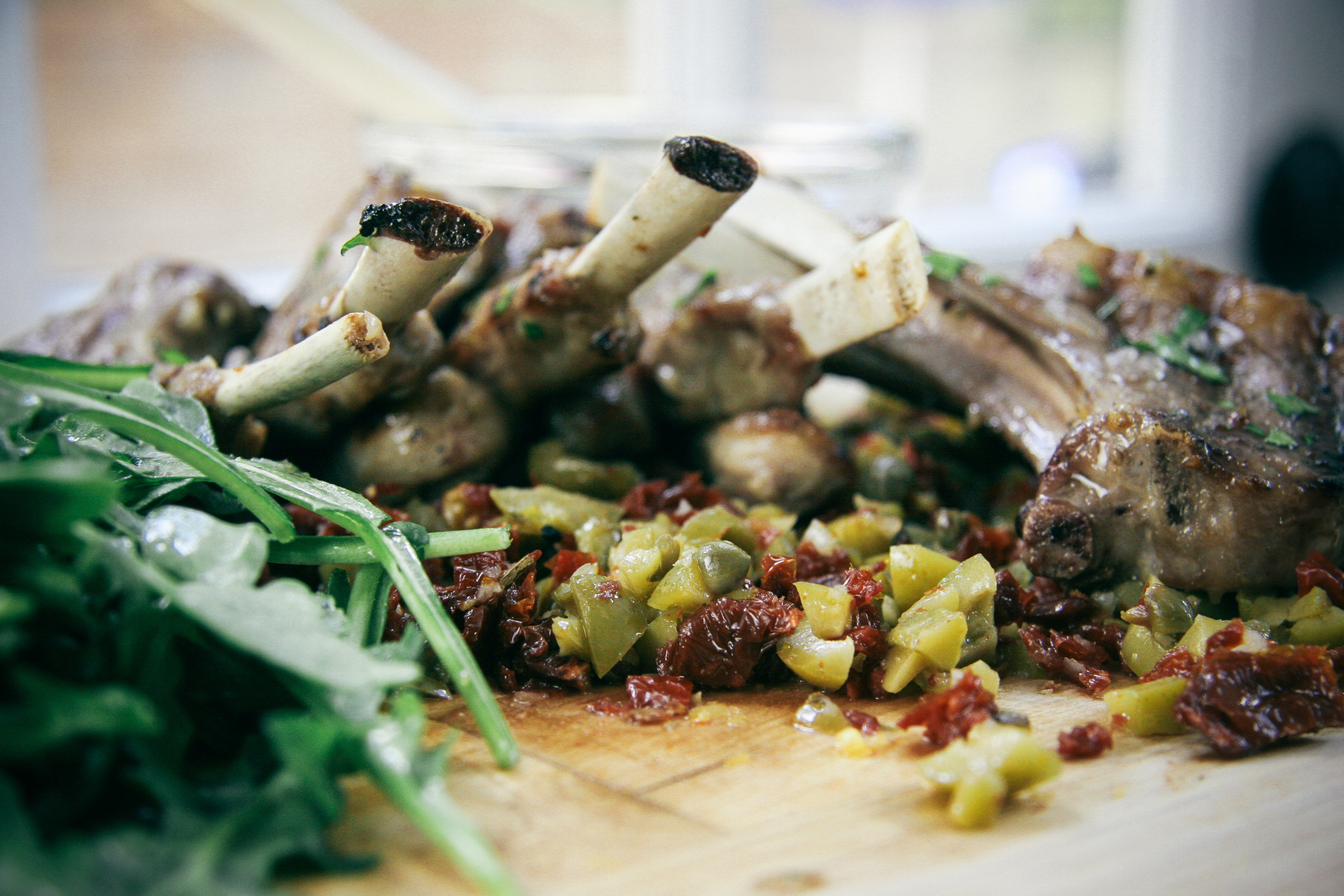 Grilled Lamb Chops with Olive and Sun Dried Tomato Tapenade | I Will Not Eat Oysters