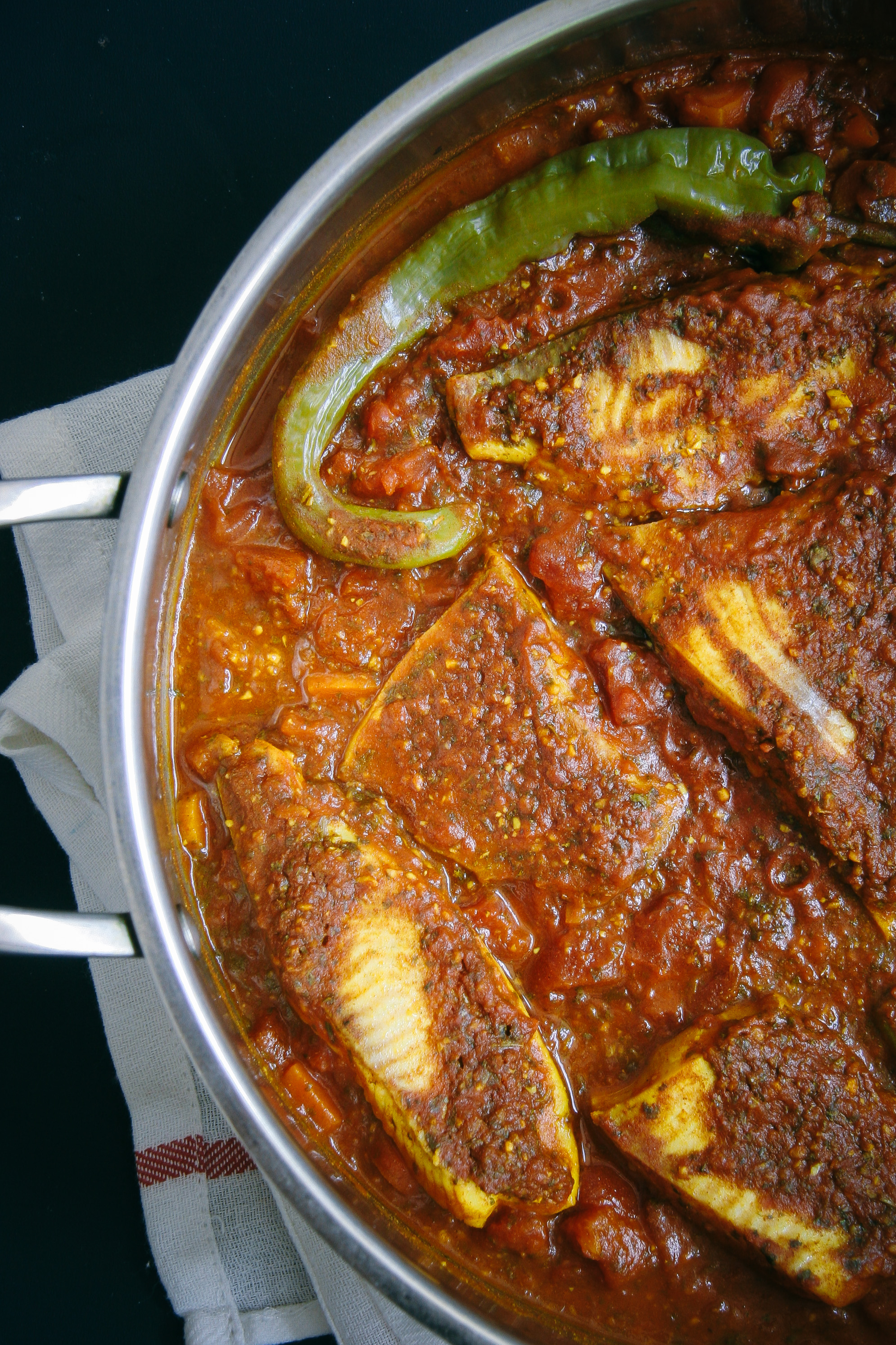 Spicy moroccan fish i will not eat oysters for Moroccan fish recipe