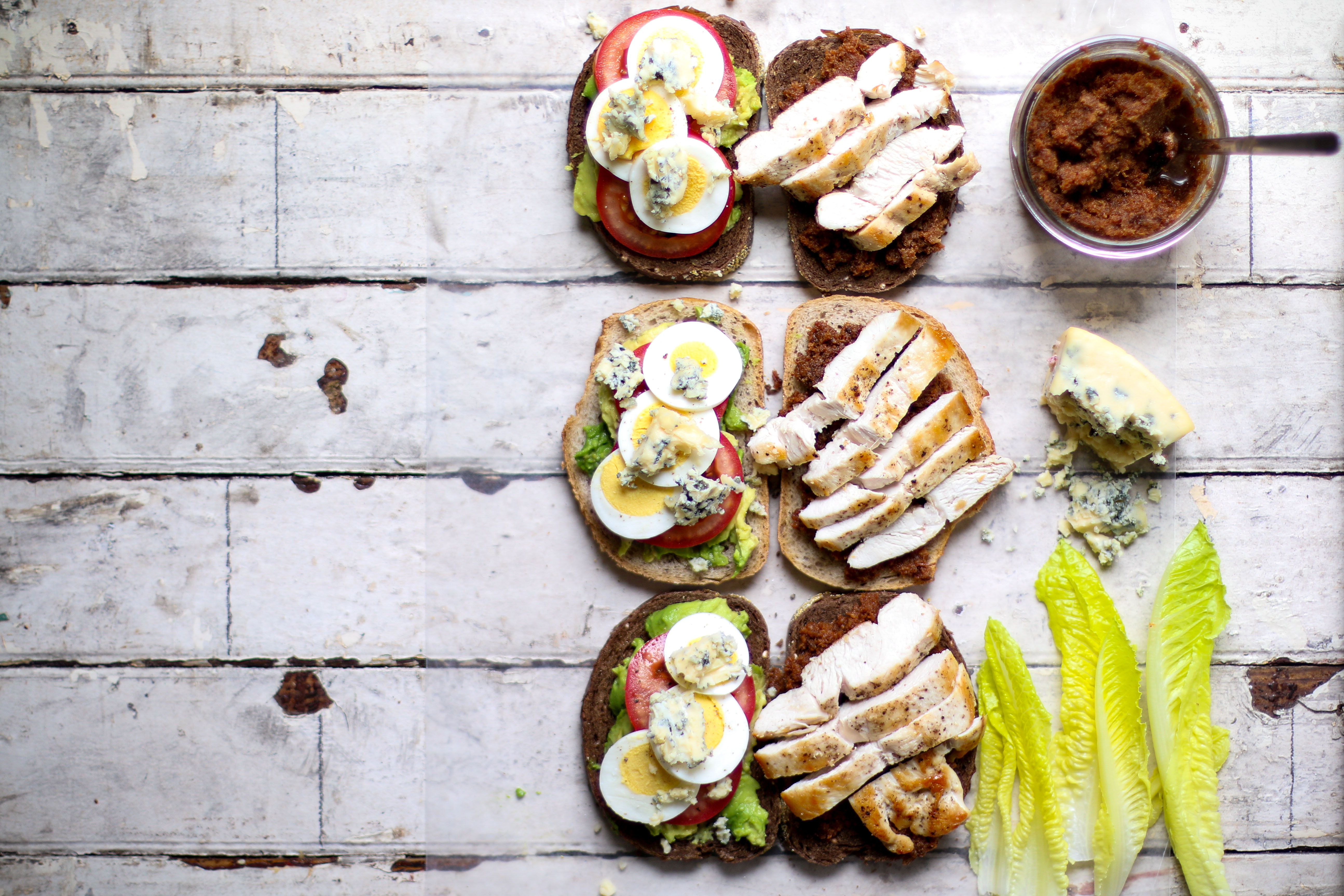 Bacon Jam Cobb Sandwiches   I Will Not Eat Oysters
