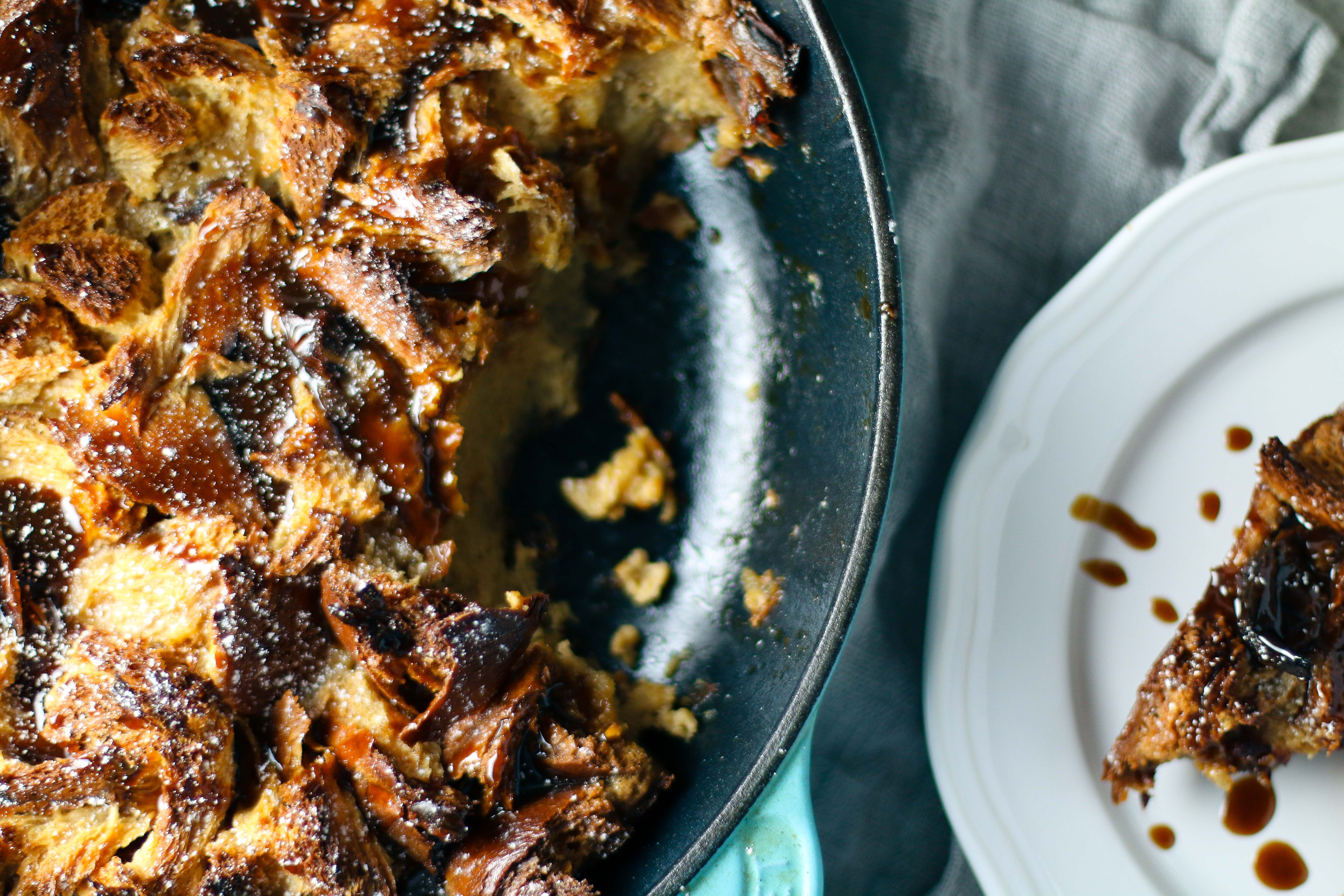 Whiskey Caramel Bread Pudding with Medjool Dates | I Will Not Eat Oysters