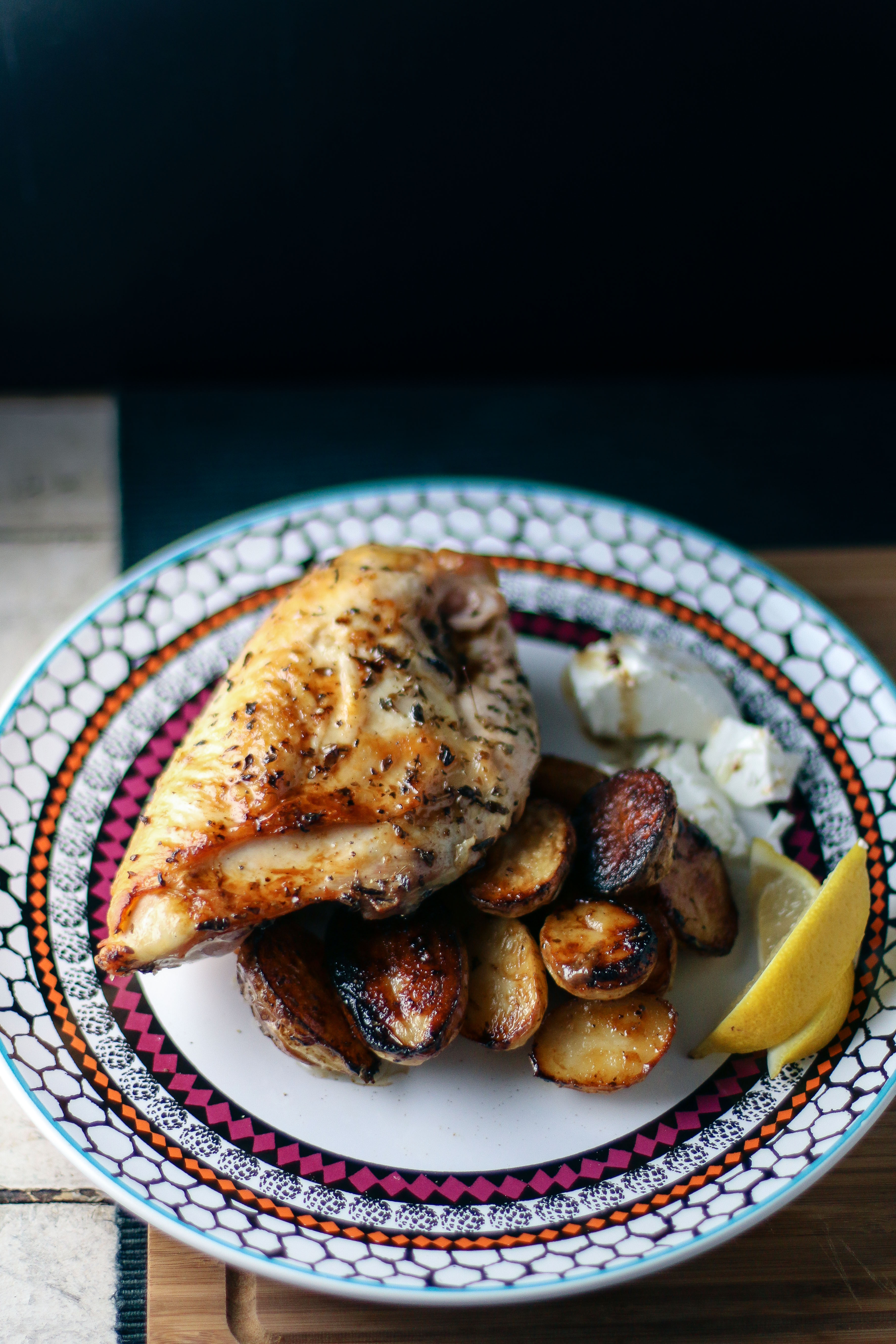 Greek Chicken & Potatoes with Feta Cheese   I Will Not Eat Oysters