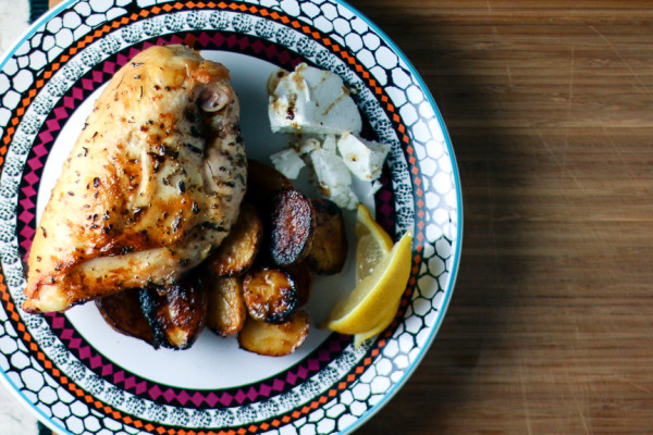 Greek Chicken & Potatoes with Feta Cheese | I Will Not Eat Oysters