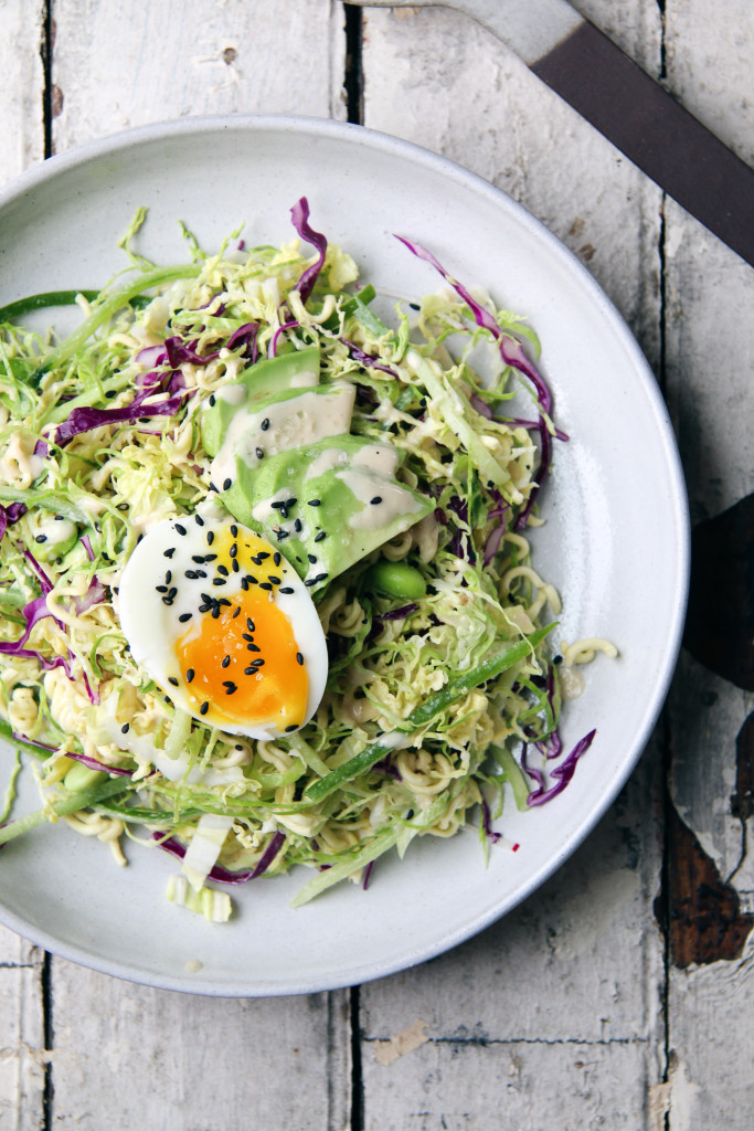 The Crunchiest Ramen Salad with tahini dressing and soft boiled egg | I Will Not Eat Oysters