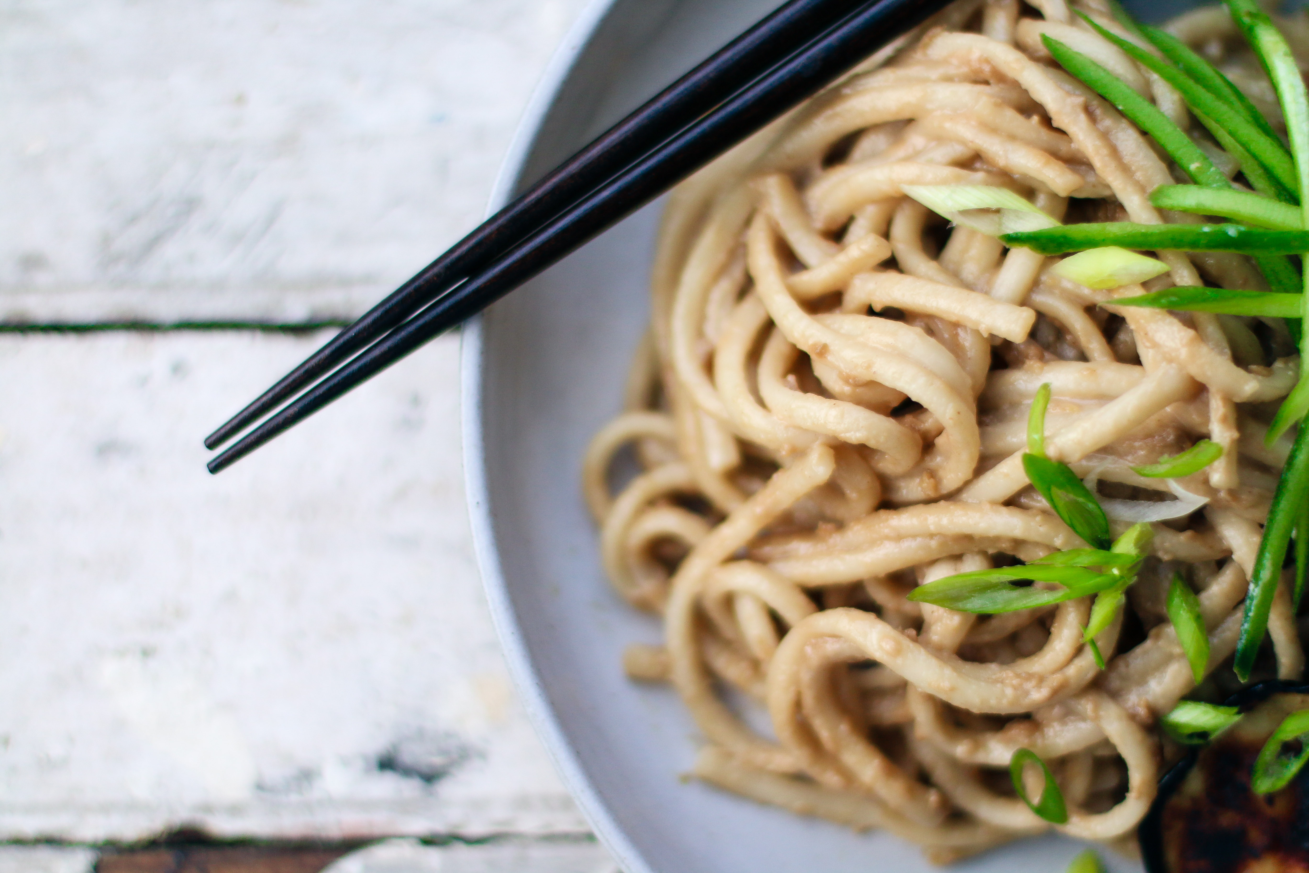 Tahini Udon Noodles with Roasted Eggplants | Japan meets Middle East | I Wi