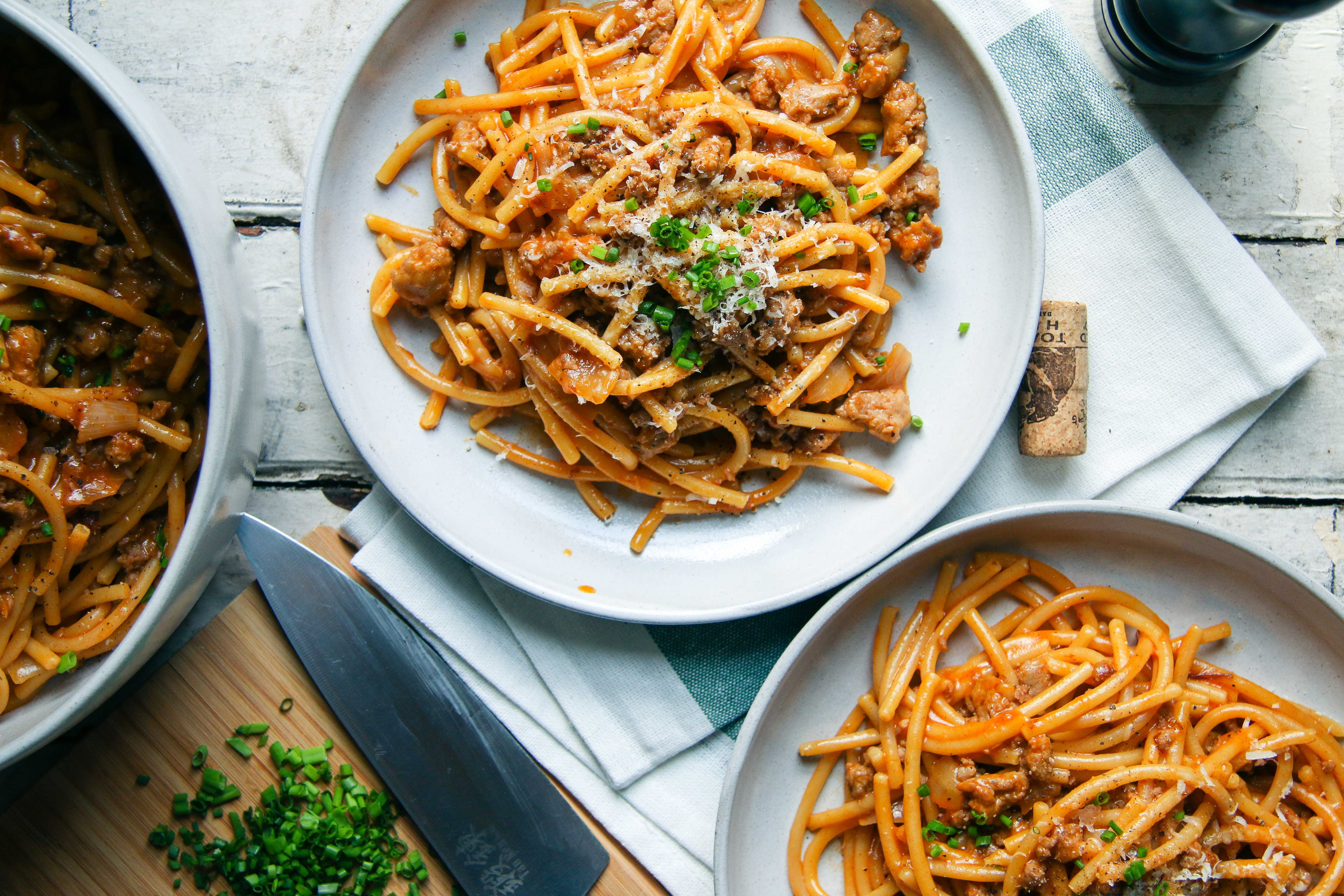 Paprika White Wine Bucatini with Italian Sausage | One Pot Pasta | I Will Not Eat Oysters