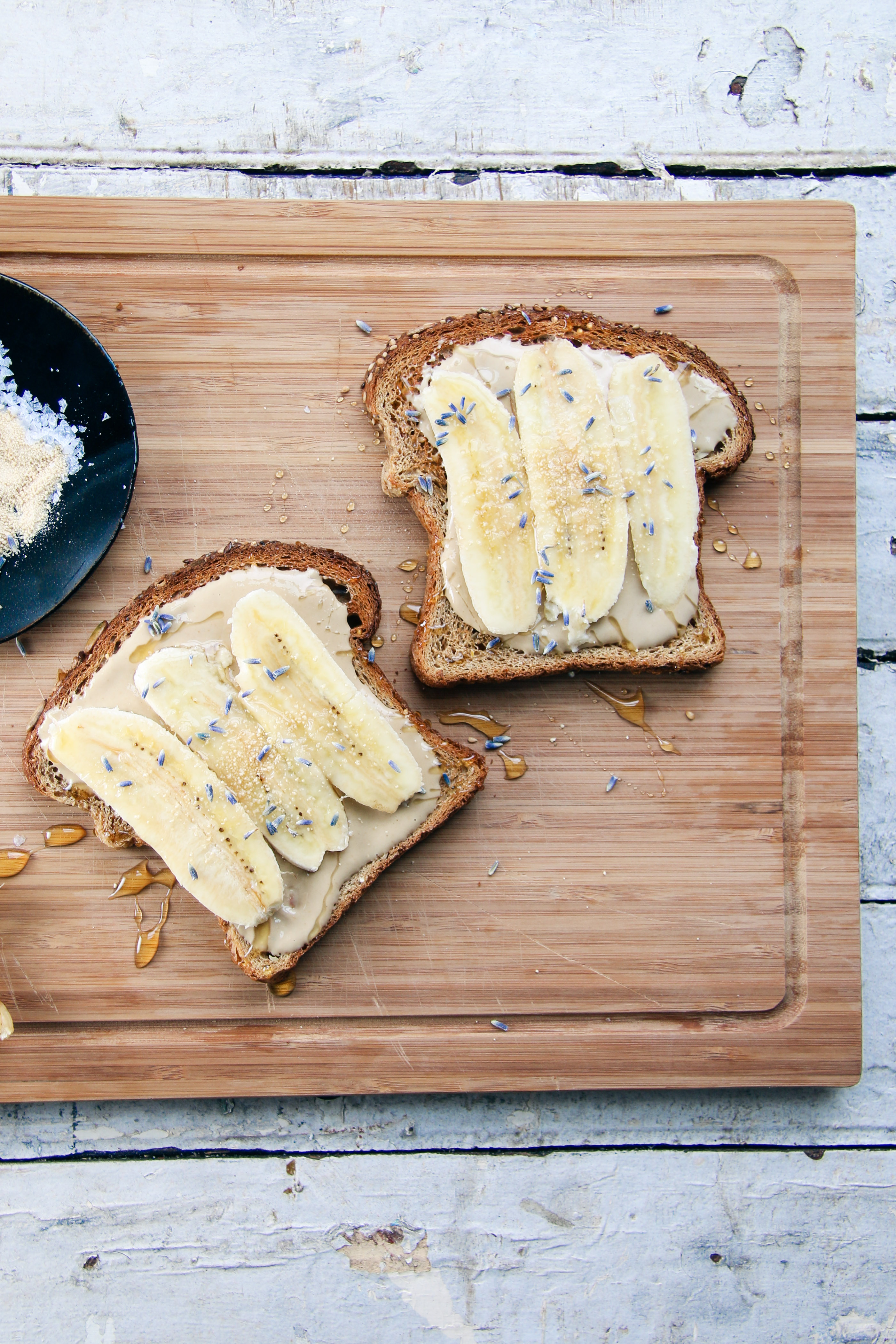 Honey Lavender Sesame Toast with Bananas | I Will Not Eat Oysters