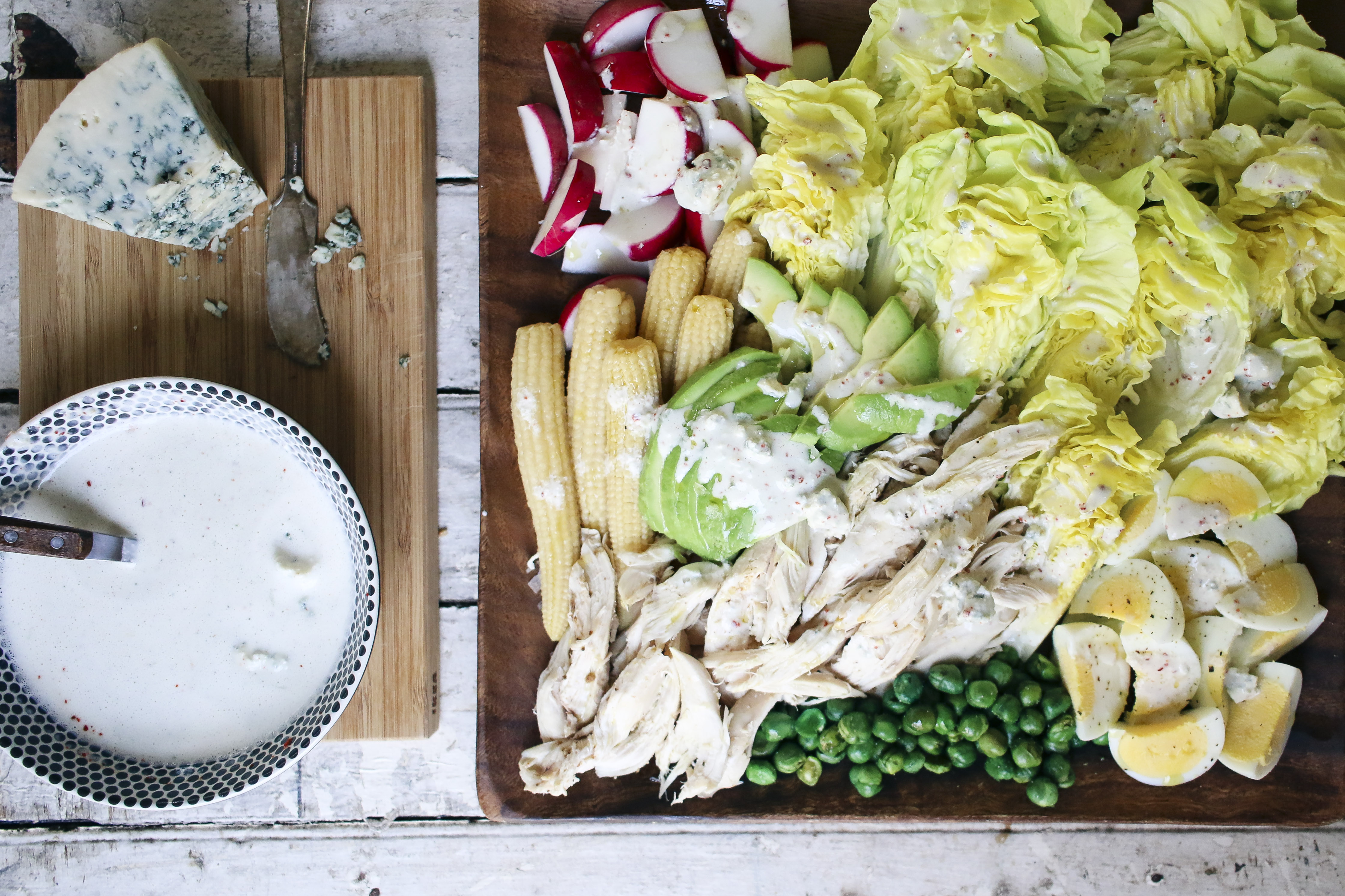 Bibb Lettuce Salad with Gochugaru Buttermilk Blue Cheese Dressing | I Will Not Eat Oysters