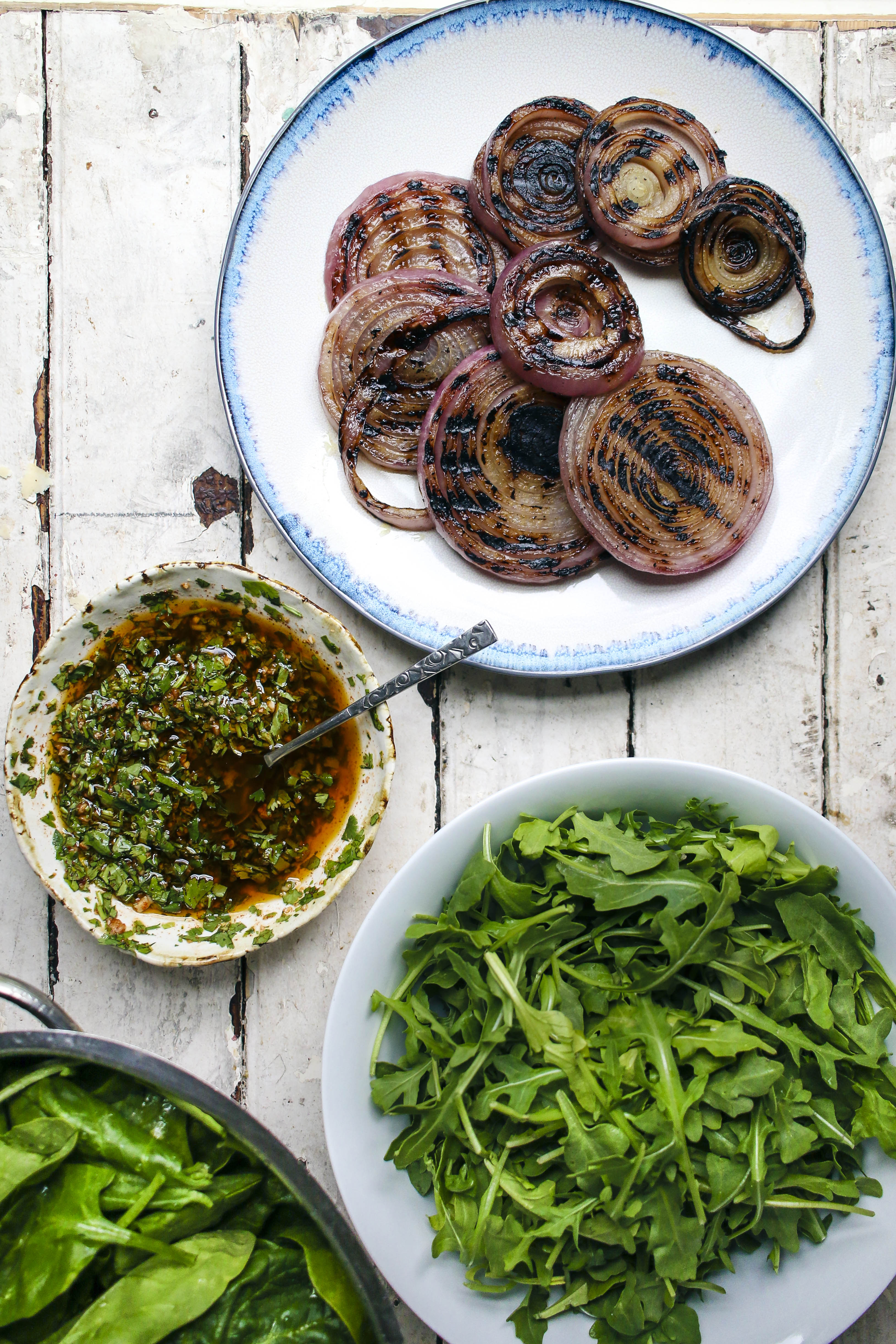 Grilled Steak & Onion Salad with Cilantro Chimichurri & Piquillo ...