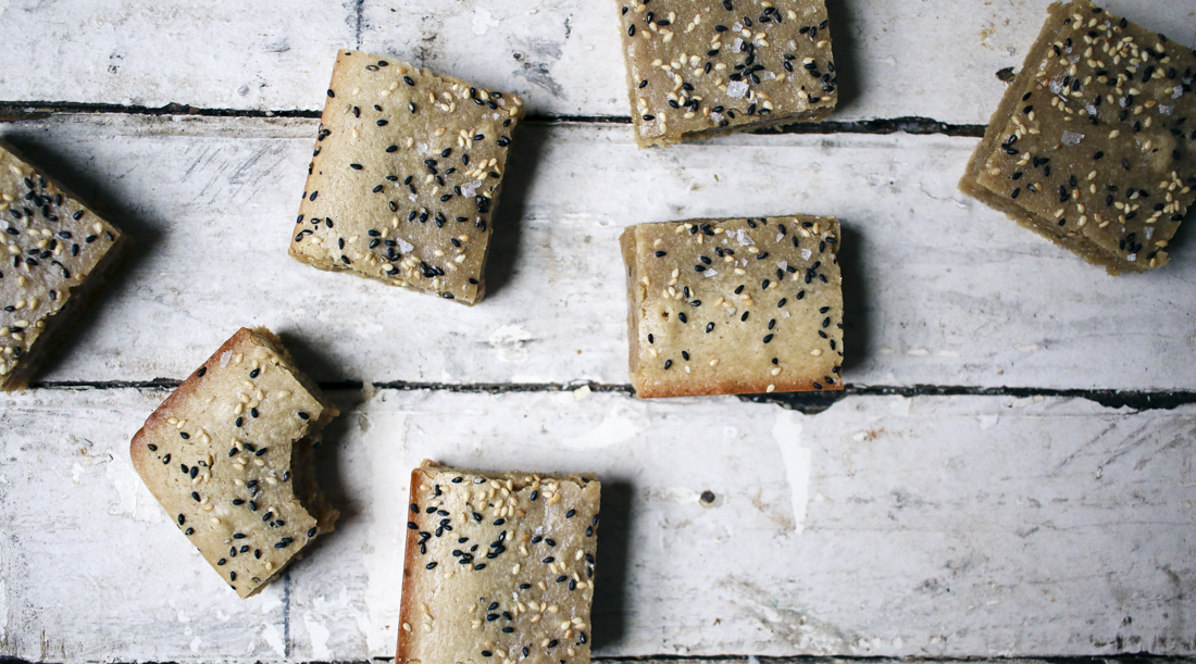 Tahini Dirty Blondies