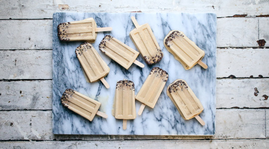 Whiskey Ice Coffee Popsicle with Cocoa Nibs   I Will Not Eat Oysters