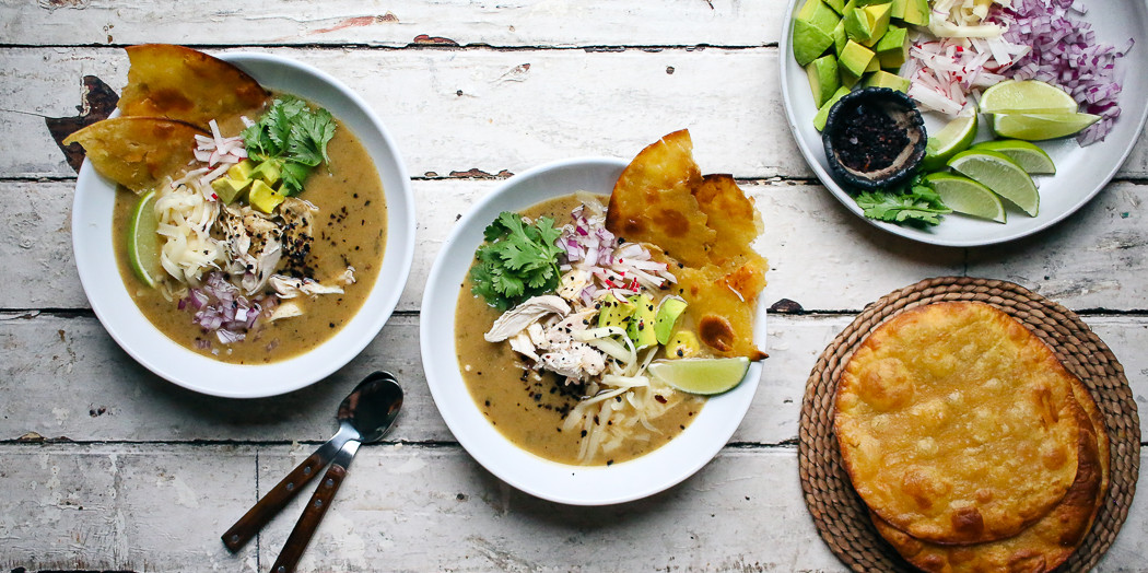 Green Tortilla Soup with Urfa and all the fixings | I Will Not Eat Oysters