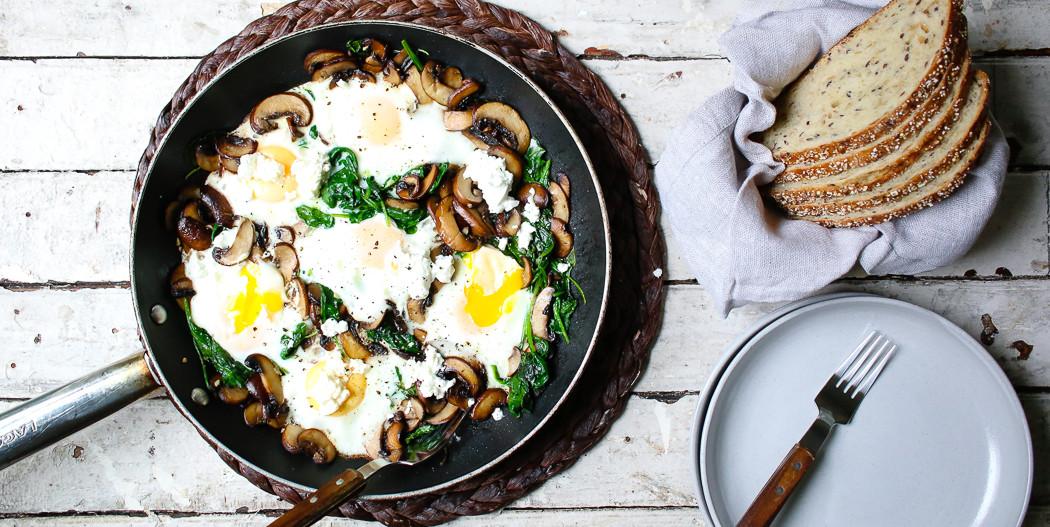 Mushroom & Spinach Breakfast Skillet | I Will Not Eat Oysters