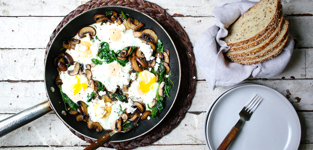 Mushroom & Spinach Breakfast Skillet
