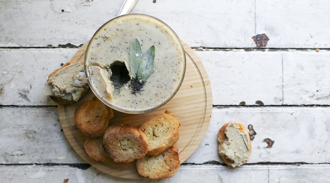 Bourbon Sage Paté with Coffee Butter
