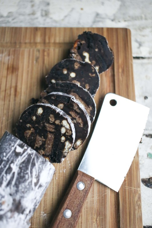 No-bake Chocolate Oreo Salami with Pretzels | Chocolate Desserts | I Will Not Eat Oysters Recipe