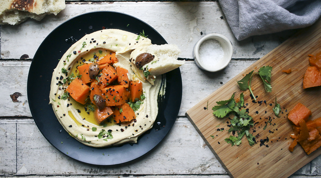 Sweet Potato & Garlic Confit Hummus