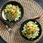 Turkey Leek Meatballs with White Wine Sauce and Dill & Pea Rice | I Will Not Eat Oysters