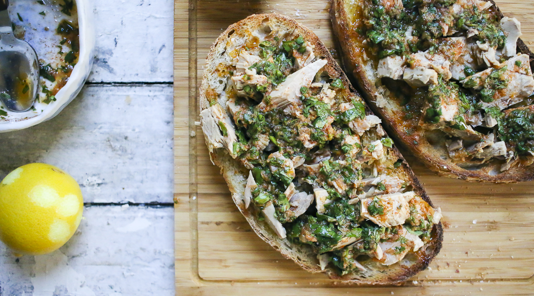 Tuna Toast with Chermoula