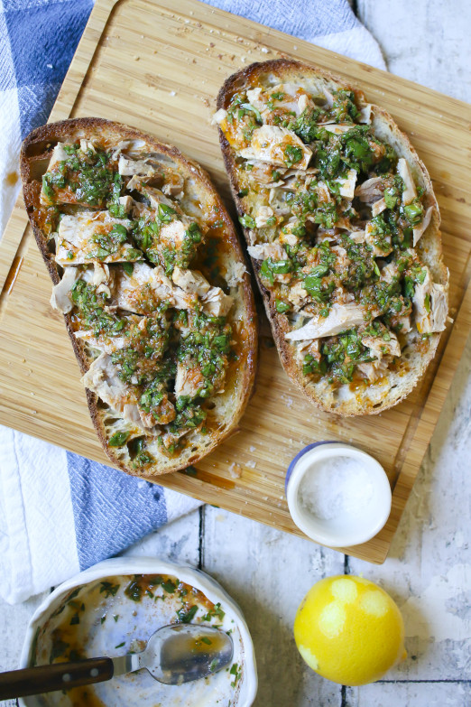 Tuna Toast with Chermoula | delicious way to elevate canned tuna | I Will Not Eat Oysters