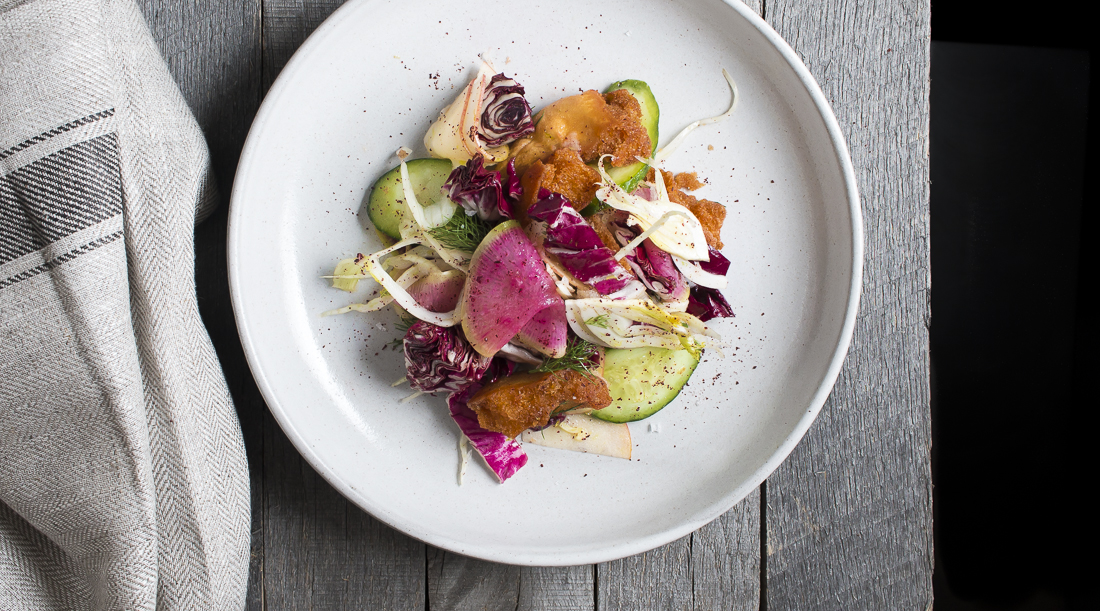 Fennel & Watermelon Radish Fattoush Salad | I Will Not Eat Oysters