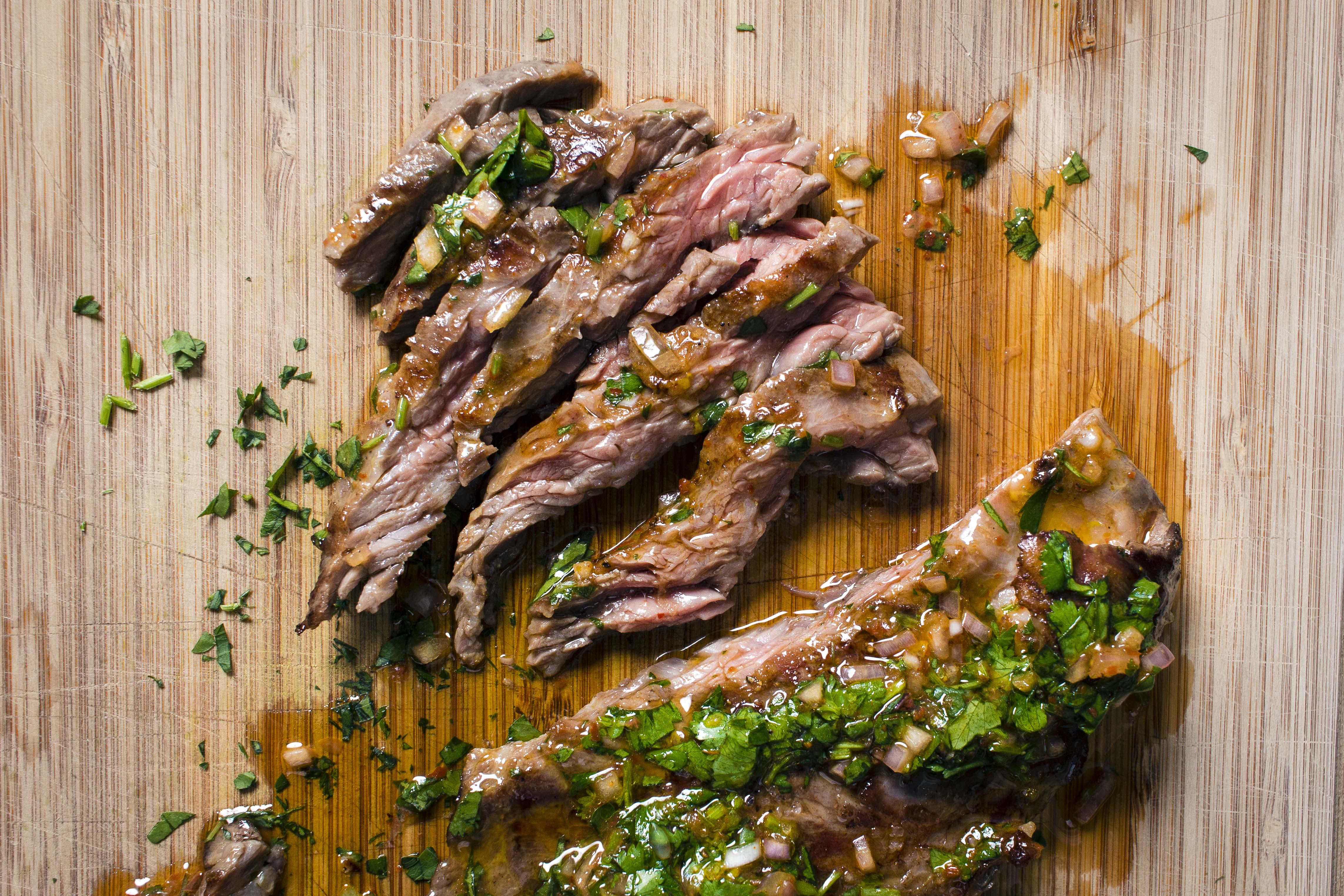 Harissa Chimichurri on Skirt Steak | I Will Not Eat Oysters