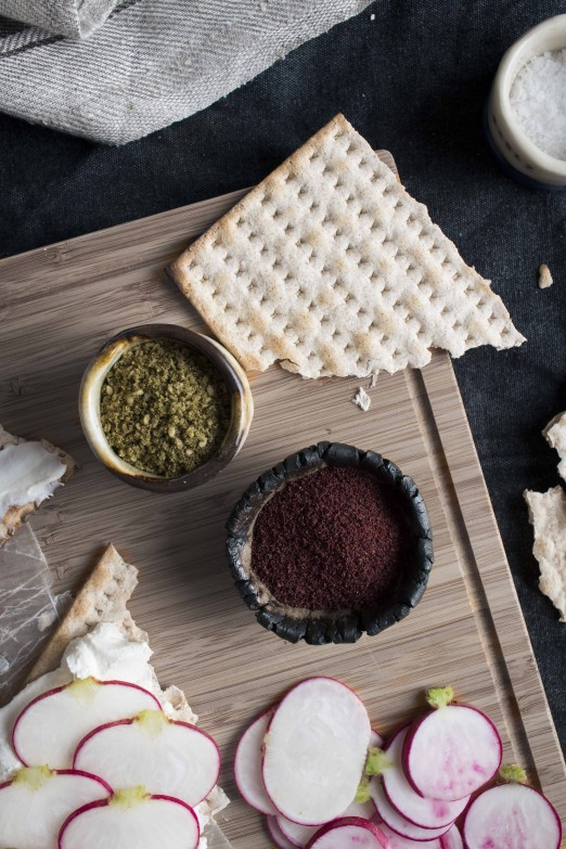 "Matza & Labne ""Toasts"" 