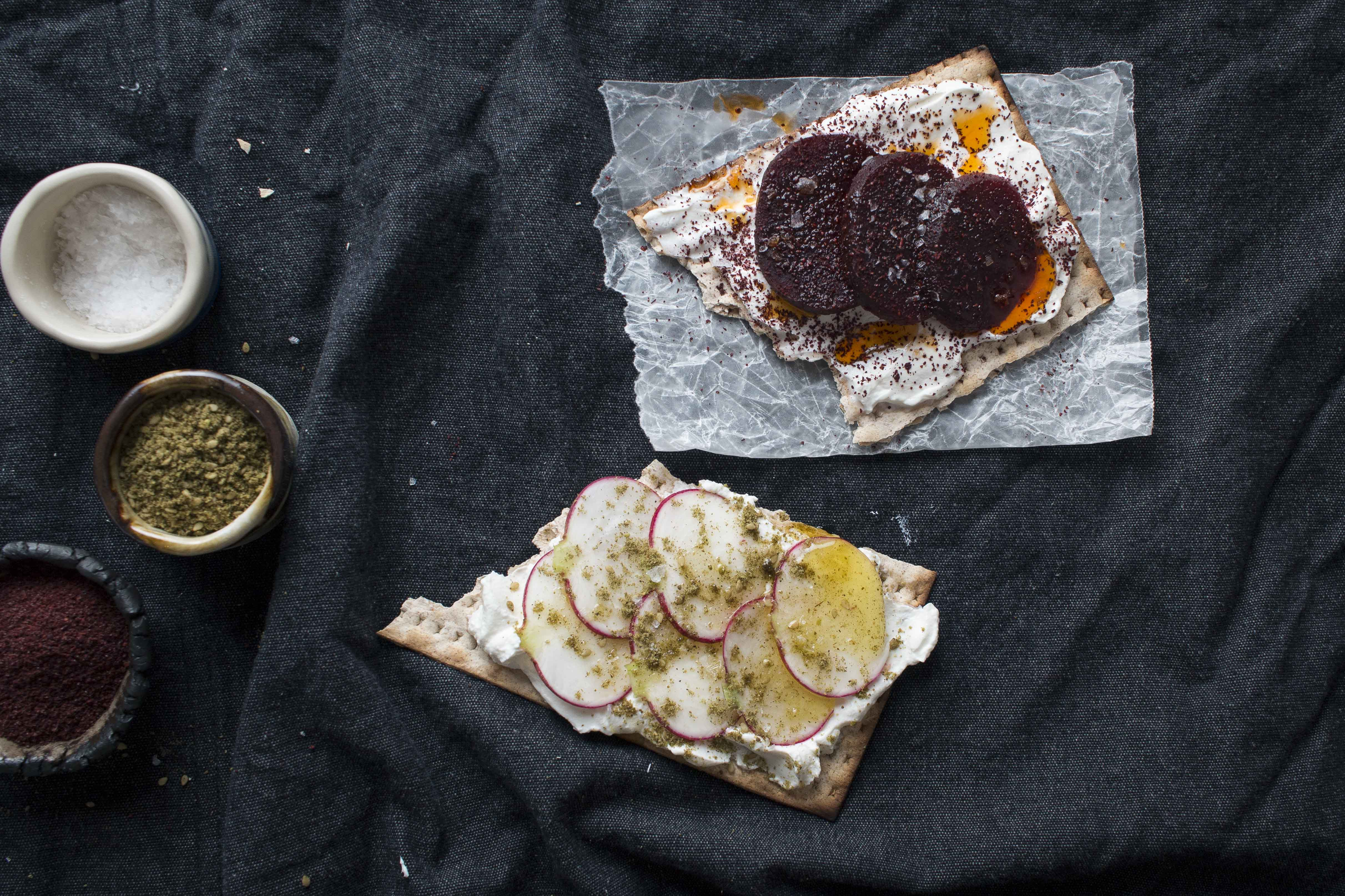 """Matza & Labne """"Toasts"""" 