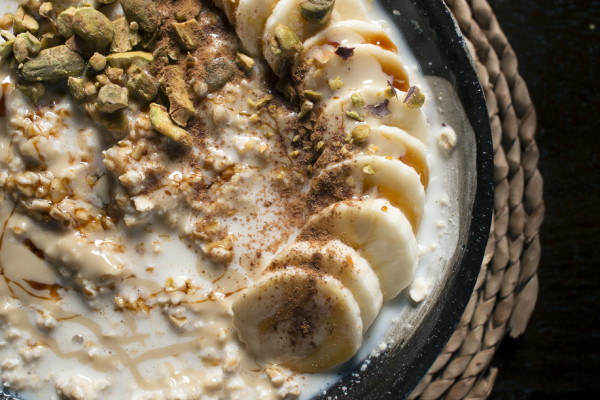 Overnight Tahini Oatmeal with Silan & Bananas | I Will Not Eat Oysters