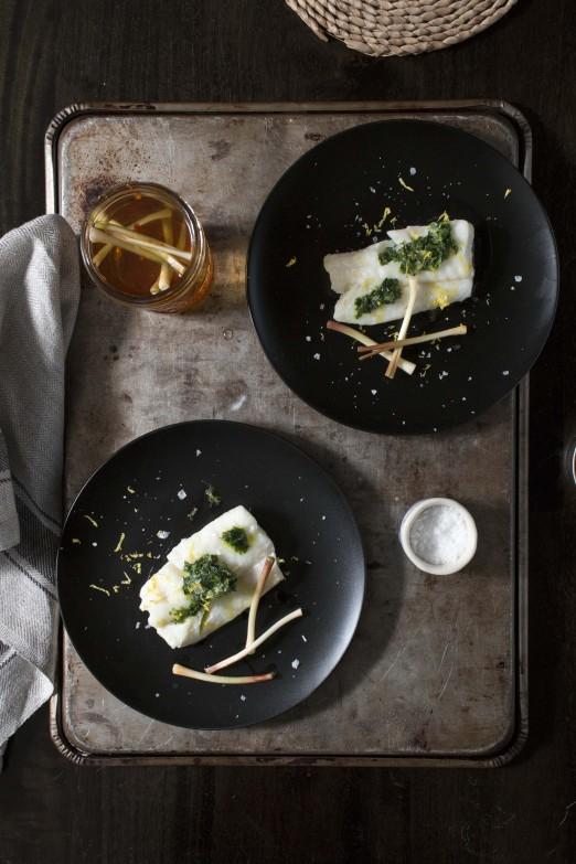 Ramp Butter & Pickled Ramps on Toast and Poached Fish | I Will Not Eat Oysters
