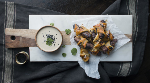 Kebabs in a Blanket with Tahini Dip | I Will Not Eat Oysters