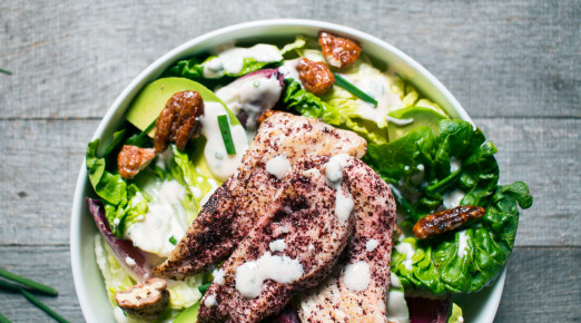 Sumac Chicken Salad with Labne Ranch Dressing   Recipe from I Will Not Eat Oysters