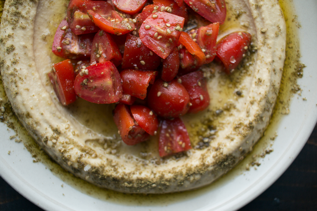 Za'atar Tomatoes and Hummus | I Will Not Eat Oysters