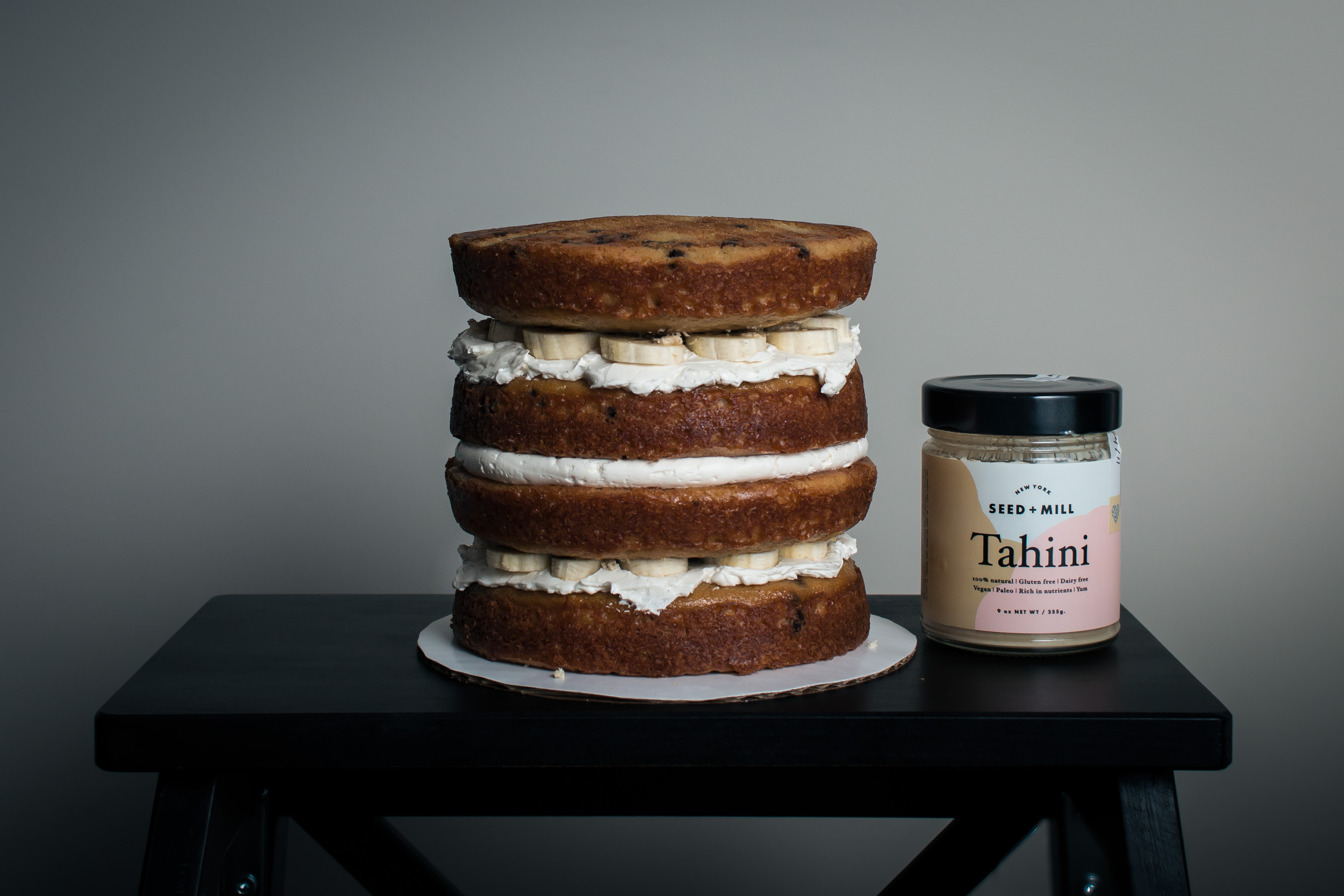 Chocolate Chip Tahini Cake with Bananas and Halva | Recipe from I Will Not Eat Oysters