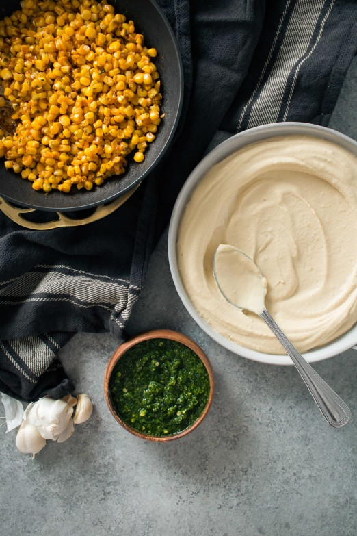 Hummus with Smoked Paprika Corn and Schug |Recipe from I Will Not Eat Oysters