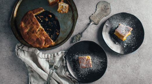 Basic Peach Cake but with Bourbon | Recipe from I Will Not Eat Oysters
