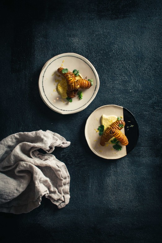 Hasselback Fingerlings & Curry Yogurt   Recipe from I Will Not Eat Oysters